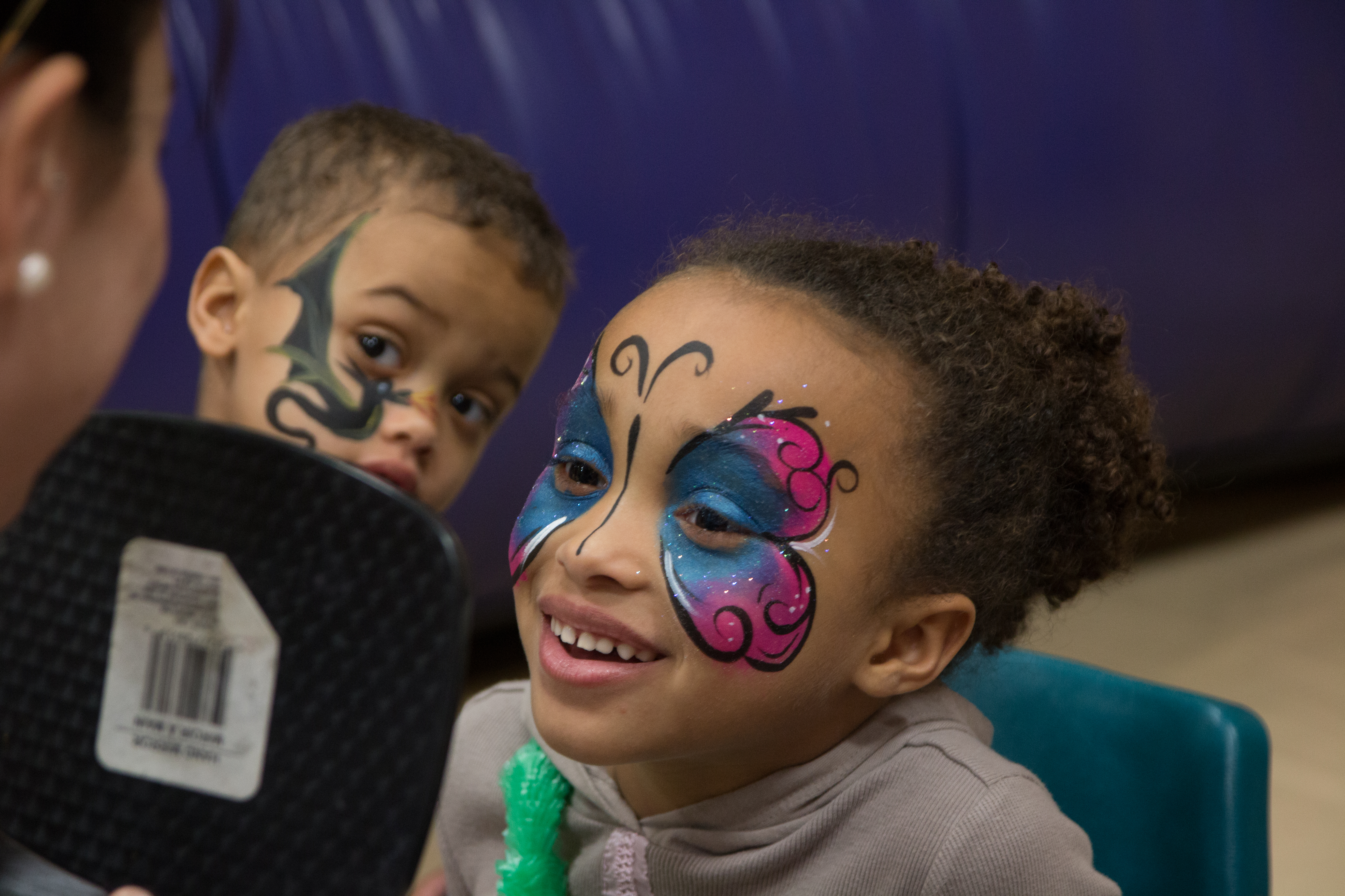 Brother & Sister Face Paintings